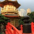 Arch Bridge in Nan Lian Garden, Hong Kong. — Foto Stock