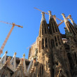 Famous Sagrada Familia in Barcelona, Spain. — Foto Stock