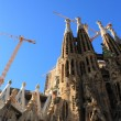 Famous Sagrada Familia in Barcelona, Spain. — Стоковая фотография