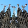 Famous Sagrada Familia in Barcelona, Spain. — Stock Photo
