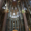 Famous Sagrada Familia in Barcelona, Spain. - Stock Photo