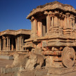 Stone Chariot at Vitthala Temple in Hampi, India. — Stock Photo