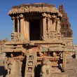 Stone Chariot at Vitthala Temple in Hampi, India. — Stock Photo #18692489