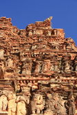 Carving detail of building exterior in Hampi, India. — Stock Photo
