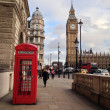 Red Telephone Booth, Big Ben and Houses of Parliament in London, UK. — Stock Photo #40020751