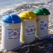 Trashcan on the beach — Stock Photo