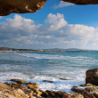 Sea and rock frame — Stock Photo #13683344