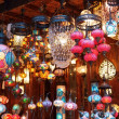 Stock Photo: Traditional vintage Turkish lamps over light background