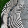 A metal bench in Istambul - Stock Photo