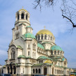 Alexander Nevsky cathedral and square in Sofia, Bulgaria — ストック写真