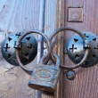 Old door lock — Stock Photo