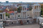 Stage of roman amphitheater in Plovdiv, Bulgaria — Stock Photo