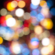 Royalty-Free Stock Photo: Defocused abstract background of color night holiday lights