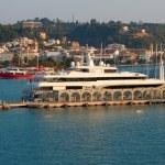 Port, infront city Zakynthos, Grece — Stock Photo