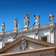 Stock Photo: Statues at St. Peter basilica