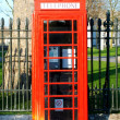 LONDON, UK - 2 MAY 2013: The iconic red phone booth photographed in London, UK on 2th May 2013. — Foto Stock