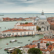 Venice cityscape - famous old city in Italy. Aerial view. UNESCO World Heritage Site. — Stock Photo