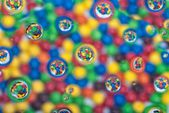 Texture with color balls and bubbles — Stock Photo