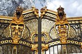 Metal gate in Kensington palace — Stock Photo