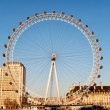 LONDON Eye giant Ferris wheel — Stock Photo
