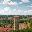 Sunny landscape in Toscana, Italy — Stock Photo