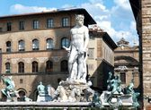 Statue of Neptun in Florence — Стоковое фото