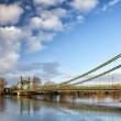 Hammersmith Bridge over the river Thames in London, England, UK — Stock Photo #43697025