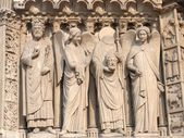 Fragment from the facade of Notre Dame — Stockfoto