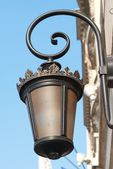 Close view from street lamp — Stock Photo