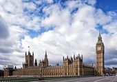 Houses of the British Parliament — Stock Photo