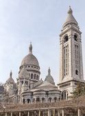 Basilica Sacre Coeur with its belfry in Paris, France — Stock Photo