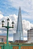 View Shard building from Southwark Bridge, London — Stock Photo