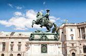 Prince Eugene's monument in Heldenplatz in Vienna — Stock Photo