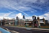 Southwark Bridge and City of London — Стоковое фото