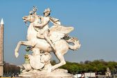 The statue of Renommee, or the fame of the king, Paris — Photo