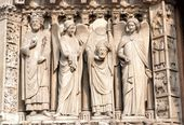Detail from Notre Dame cathedral in Paris  — Stock Photo