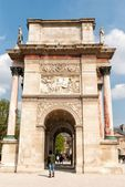 Triumphal arch in Paris on the Carrousel Square — Stock Photo