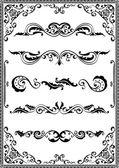 Victorian scrolls — Stock Vector