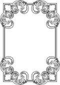 Baroque card — Stock Vector