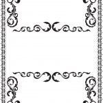 Victorian frame — Stock Vector