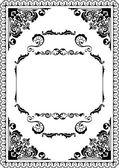 Baroque page — Stock Vector