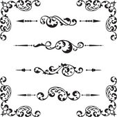 Classical ornate set — Stock Vector