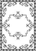 Vintage baroque frame — Stock Vector