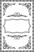 Baroque vintage frame — Stock Vector