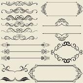 Caligrafía diseño bonito conjunto — Vector de stock