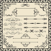 Set of calligraphy ornate elements — Vector de stock