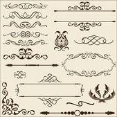 Baroque ornate set — Stock Vector