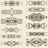 Ornate nice divide lines — Stock Vector