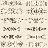 Ornate vintage divide lines — Stock Vector