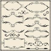 Ornate scroll set — Stock Vector